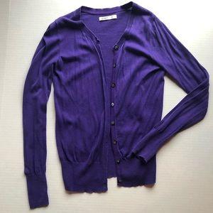 Sweaters - Purple Cardigan